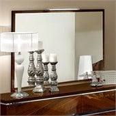 camelgroup Matrix Mirror in Dark Walnut