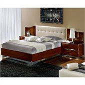 camelgroup Matrix Maxi Quadri Bed with Lights in Dark Walnut