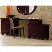 camelgroup Miss Italia Toilette Corner Vanity Dresser in Matte Lacquer