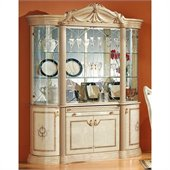 camelgroup Rossella 4 Door China Cabinet in Ivory