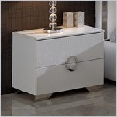 Dupen Coco Nightstand in White