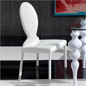 Dupen Modern Dining Chair in White