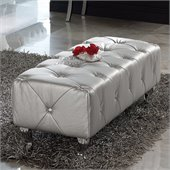 Dupen Lorena Bench in Silver