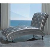 Dupen Lorena Chaise Lounge in Silver