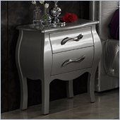 Dupen Lorena Nightstand in Silver