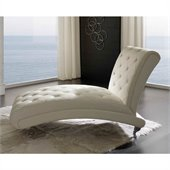 Dupen Nelly Chaise Lounge in White