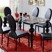 Dupen Modern Dining Table in Black