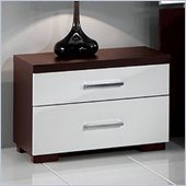 MCS Luxury Nightstand in Wenge/White