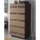 Benicarlo 112 Series 5-Drawer Chest in Wenge/Cappuccino
