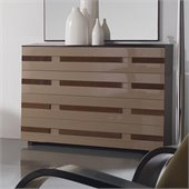 Benicarlo 112 Series 4-Drawer Dresser in Wenge/Capuccino