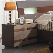 Benicarlo 112 Series Nightstand in Wenge/Capuccino