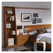 Benicarlo 114 Series Tower Bookcase with Light Attachment in Cherry