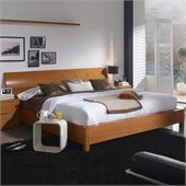 Benicarlo 114 Series Platform Bed in Cherry