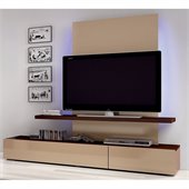 Benicarlo Maya Wall Unit TV Stand in Dark Wenge