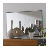 Benicarlo Sal Mirror in Glossy Black/Warm Walnut
