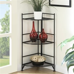 Convenience Concepts Designs2Go Corner Plant Stand in Black