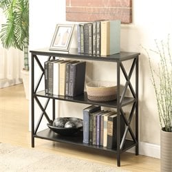 Convenience Concepts Tucson 2 Shelf Bookcase in Black
