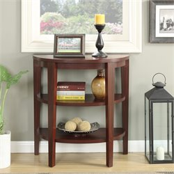 Convenience Concepts Newport 2 Shelf Console Table in Mahogany