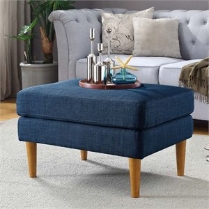 Convenience Concepts Designs4Comfort Ottoman in Blue