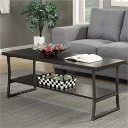 Convenience Concepts X-Calibur Coffee Table in Espresso