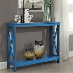 Convenience Concepts Oxford Console Table in Blue