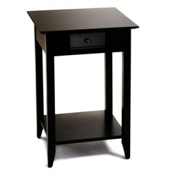 Convenience Concepts American Heritage Square End Table in Black