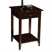 Convenience Concepts American Heritage Square End Table in Espresso