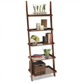 Convenience Concepts American Heritage Ladder Bookshelf in Cherry