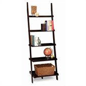Convenience Concepts American Heritage Ladder Bookshelf in Espresso
