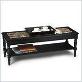 Convenience Concepts Faux Marble Coffee Table in Black