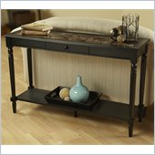 Convenience Concepts Faux Marble Console Table in Black