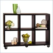 Convenience Concepts Northfield Rolling Divider Bookcase in Espresso