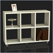 Convenience Concepts Northfield Rolling Bookcase in White
