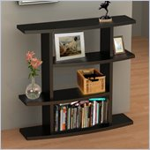 Convenience Concepts Northfield Wave Bookshelf in Espresso