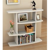 Convenience Concepts Northfield Wave Bookshelf in White