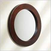 Convenience Concepts Northfield Elite Round Mirror in Espresso