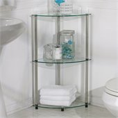 Convenience Concepts Classic Glass 3 Tier Corner Shelf 
