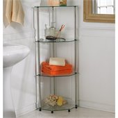Convenience Concepts Classic Glass 4 Tier Corner Shelf