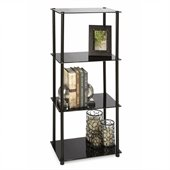 Convenience Concepts Classic Glass 4 Tier Tower in Black