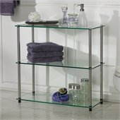 Convenience Concepts Classic Glass 3 Shelf Bookcase