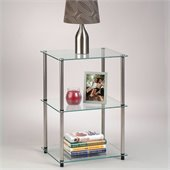 Convenience Concepts Classic Glass 3 Tier Lamp Table