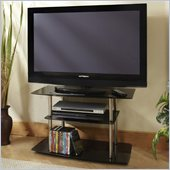 Convenience Concepts Classic Glass 32 TV Stand in Black