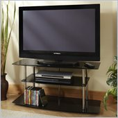 Convenience Concepts Classic Glass 42 TV Stand in Black