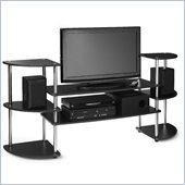 Convenience Concepts Designs2Go Multi Level TV Stand in Black
