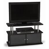 Convenience Concepts Designs2Go TV Stand with 2 Cabinets in Black
