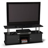 Convenience Concepts Designs2Go TV Stand with 3 Cabinets in Black