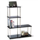 Convenience Concepts Designs2Go Multi L Bookshelf in Black