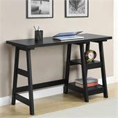 Convenience Concepts Designs2Go Trestle Desk in Black