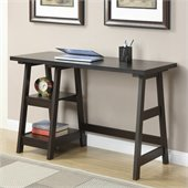 Convenience Concepts Designs2Go Trestle Desk in Espresso