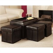 Convenience Concepts Manhattan Storage Bench Ottoman in Espresso